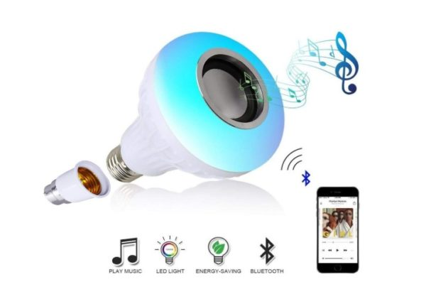 LED Light with Bluetooth Speaker